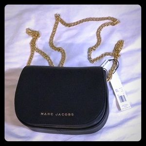 Marc Jacobs Avenue Black Leather Cross Body Bag